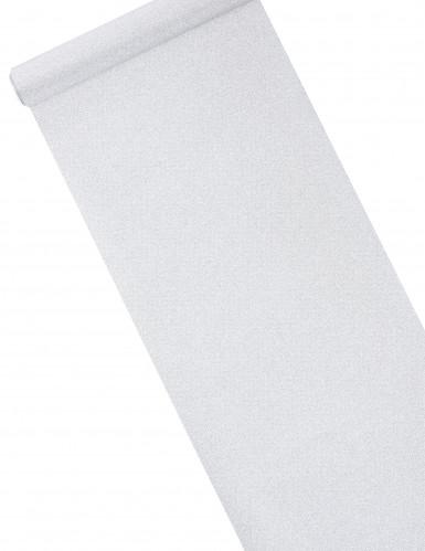 Chemin de table argenté à paillettes 28 cm x 5 m