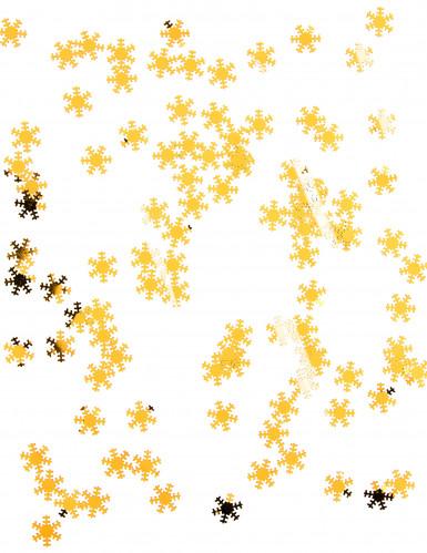 Flocons des neiges dorés 45 g Noël-1