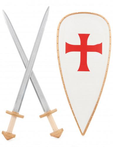 Kit bouclier et 2 épées chevalier croisé Enfant