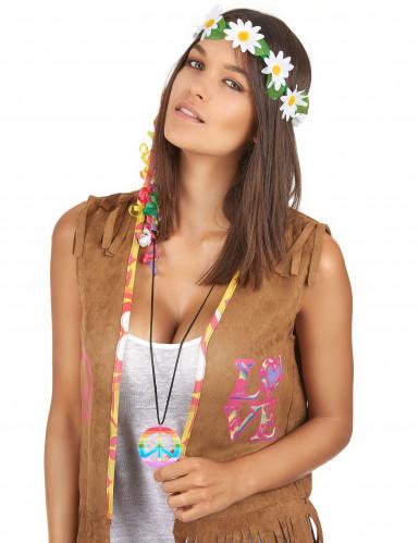 Collier hippie multicolore Adulte-1