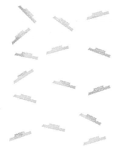 Confettis Joyeux Anniversaire blanc-1
