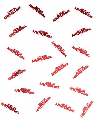 Confettis Joyeux anniversaire rouge passion-1