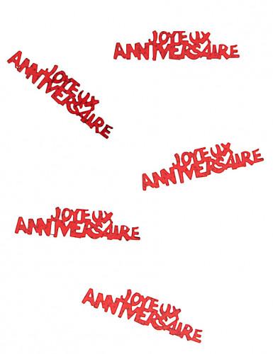 Confettis Joyeux anniversaire rouge passion