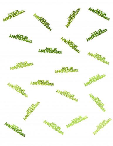 Confettis Joyeux anniversaire vert-1