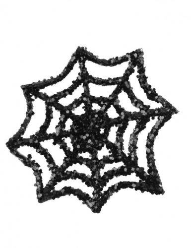6 Petites toiles d'araignée à paillettes 6 cm