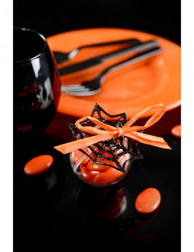 6 Petites toiles d'araignée à paillettes 6 cm-1