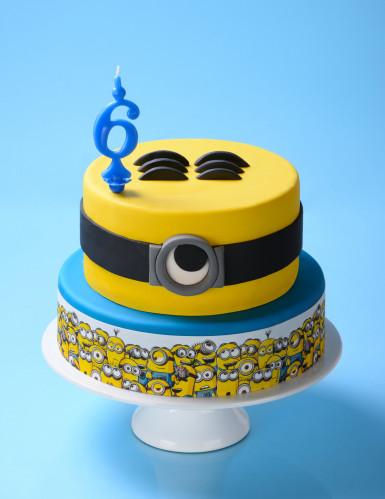 3 Bandes en sucre décoration gâteau Minion™-1
