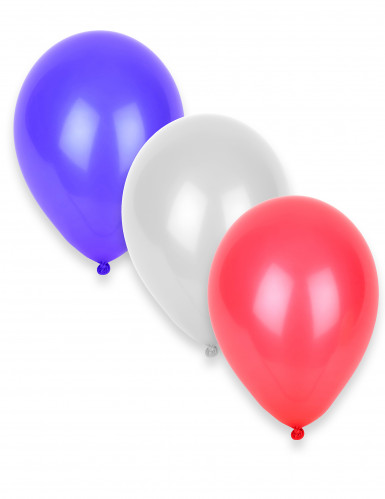 50 Ballons tricolores bleus, blancs, rouges