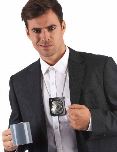 Collier badge policier adulte-1