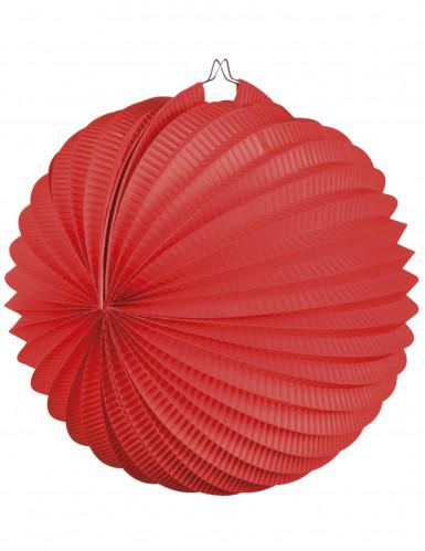 Lanterne boule rouge 23 cm