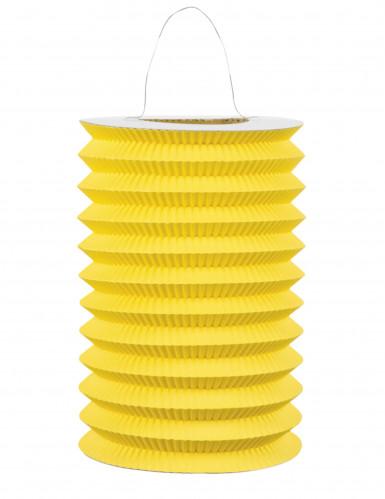 Lampion en papier jaune 15 cm