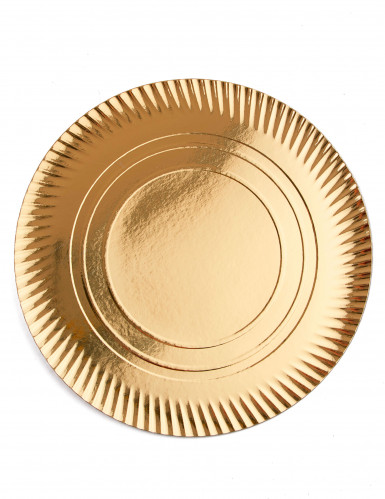 4 Sous assiettes en carton dorés 36 cm