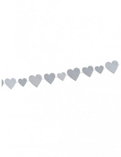 Guirlande coeurs argent Saint Valentin