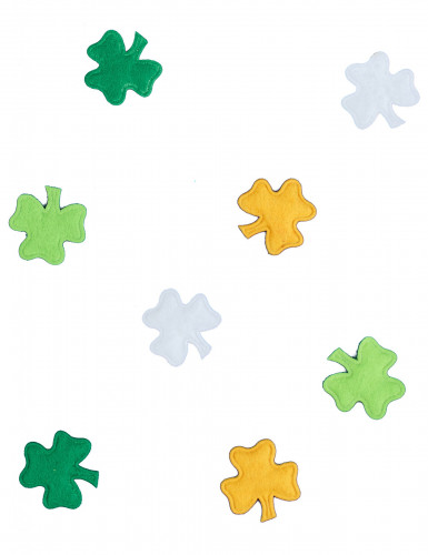 Confettis trèfles en feutrine Saint Patrick