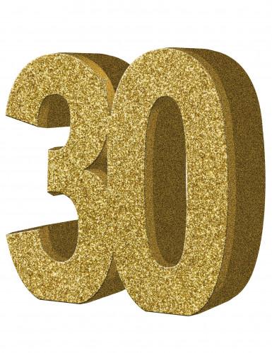 Décoration de table 30 ans dorée 20 x 20 cm