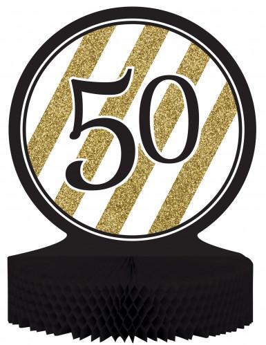 Centre de table 50 ans Noir et Or