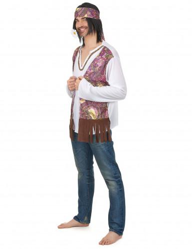 Déguisement hippie à franges homme-1