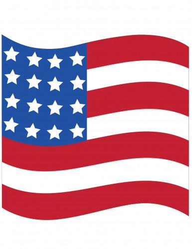 Décoration drapeau USA en carton 41 x 39 cm