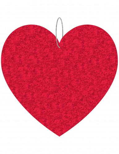 3 Suspensions coeur St Valentin 21.5 cm