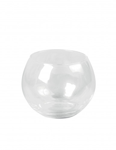 Bougeoir boule en verre 10 cm