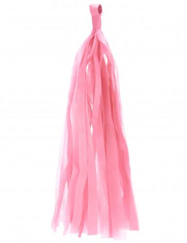 6 Pompons tassel rose