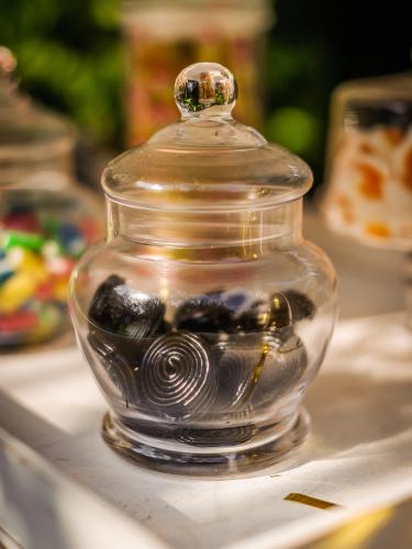 Bonbonnière en verre rétro 15 cm-2