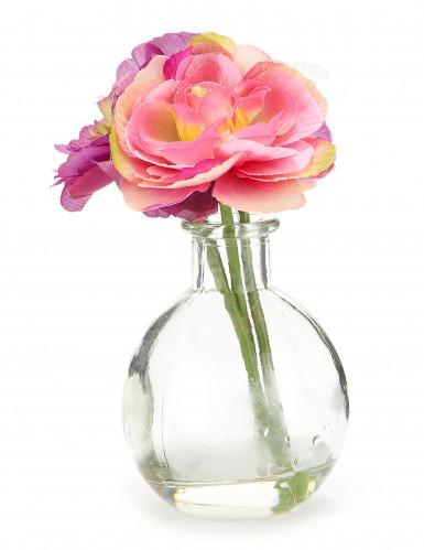 Petit vase de fleurs artificielles-1
