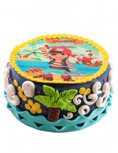 Disque en sucre pour gâteau Pirate 20 cm-1