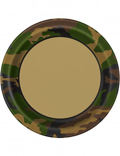 8 Assiettes en carton militaire 23 cm