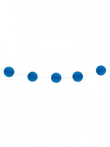 Guirlande boules alvéolées bleu foncé