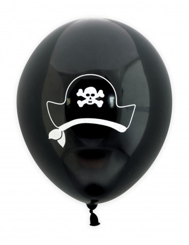 6 Ballons latex pirate 25 cm