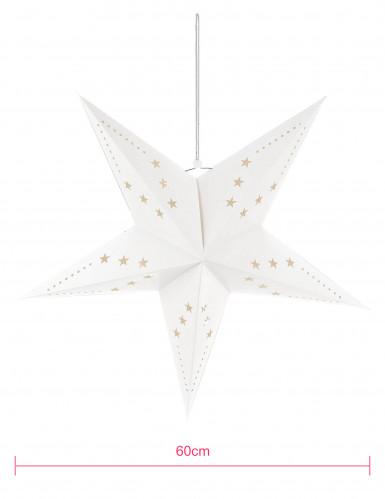 Suspension étoile blanche 60 cm-1