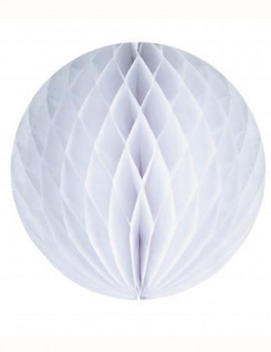 Petite boule en papier alvéolé blanc 10 cm