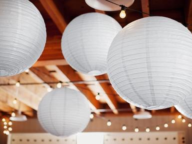 Lanterne japonaise blanche 25 cm-1