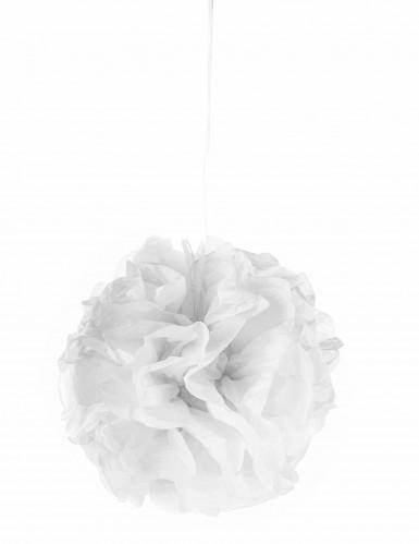 Pompon à suspendre en papier blanc 25 cm