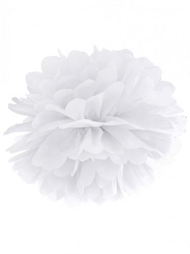 Pompon à suspendre en papier blanc 35 cm