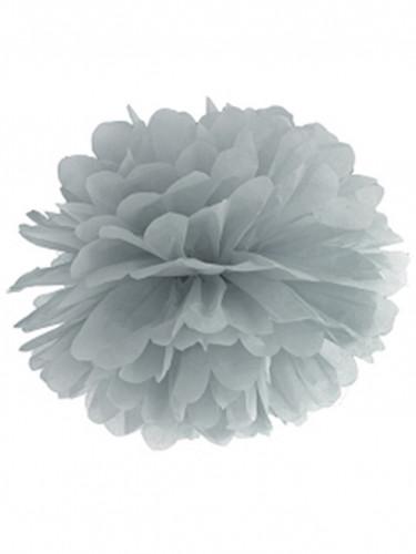 Pompon 35 cm gris