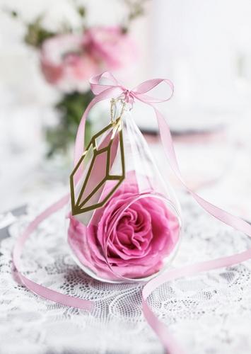 Ruban satin rose 0.6 cm x 25 m-1