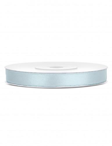 Ruban satin bleu gris clair 0.6 cm x 25 m