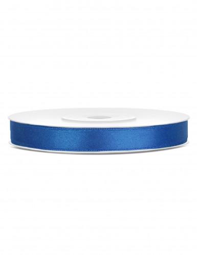 Ruban satin bleu roi 0.6 cm x 25 m