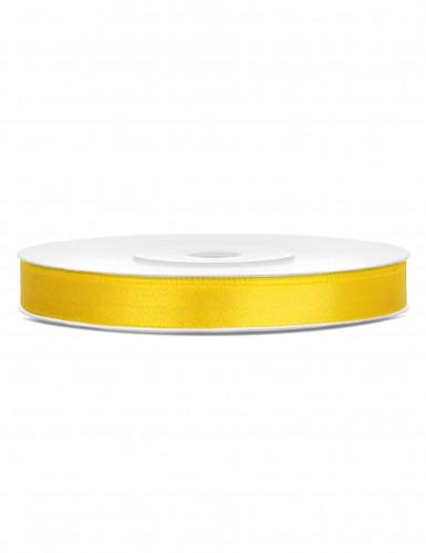 Ruban satin jaune 0.6 cm x 25 m