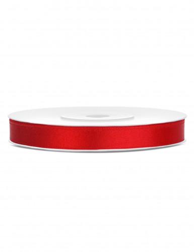 Ruban satin rouge 0.6 cm x 25 m
