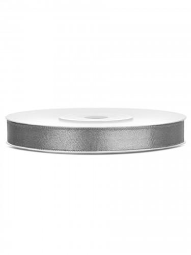 Ruban satin gris 0.6 cm x 25 m
