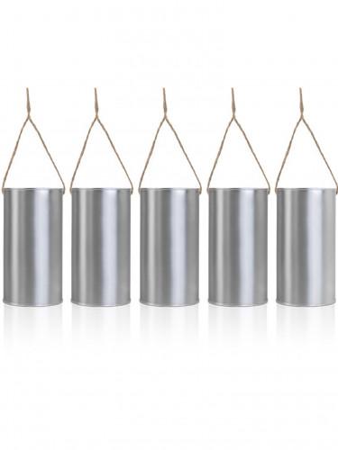 5 Pots en acier à suspendre