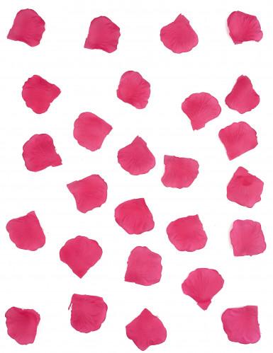 100 Pétales de rose en tissu fuchsia 5 x 5 cm-1