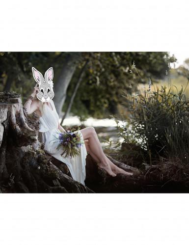 Masque papier cartonné lapin-1