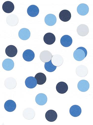 Confettis papier blanc et bleu 5 gr