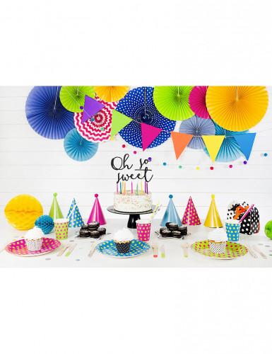 6 Chapeaux de fête colorés avec pompons-2