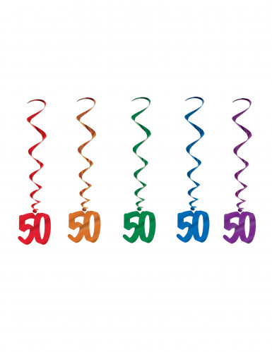 5 Suspensions spirales 50 ans