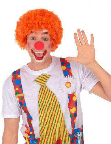 Perruque afro/clown orange standard adulte-1
